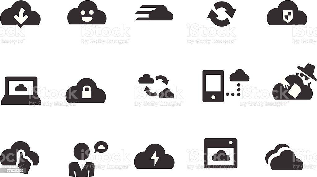 Cloud Computing Icons royalty-free stock vector art