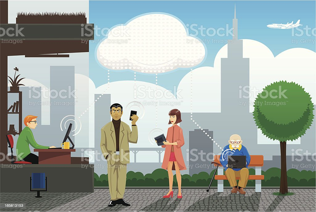 Cloud computing in our life royalty-free cloud computing in our life stock vector art & more images of adolescence