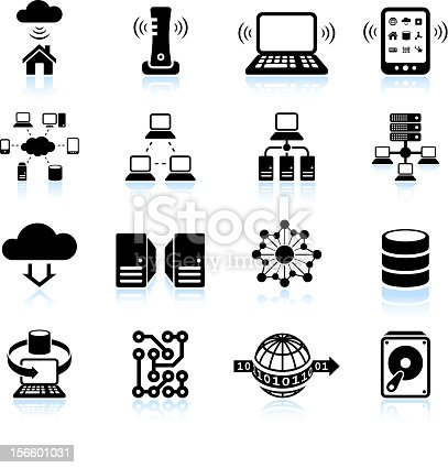 Computer technology clipart black and white