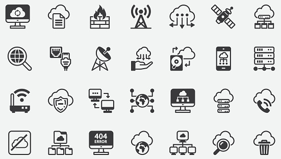 Cloud Computing Network Concept Icons