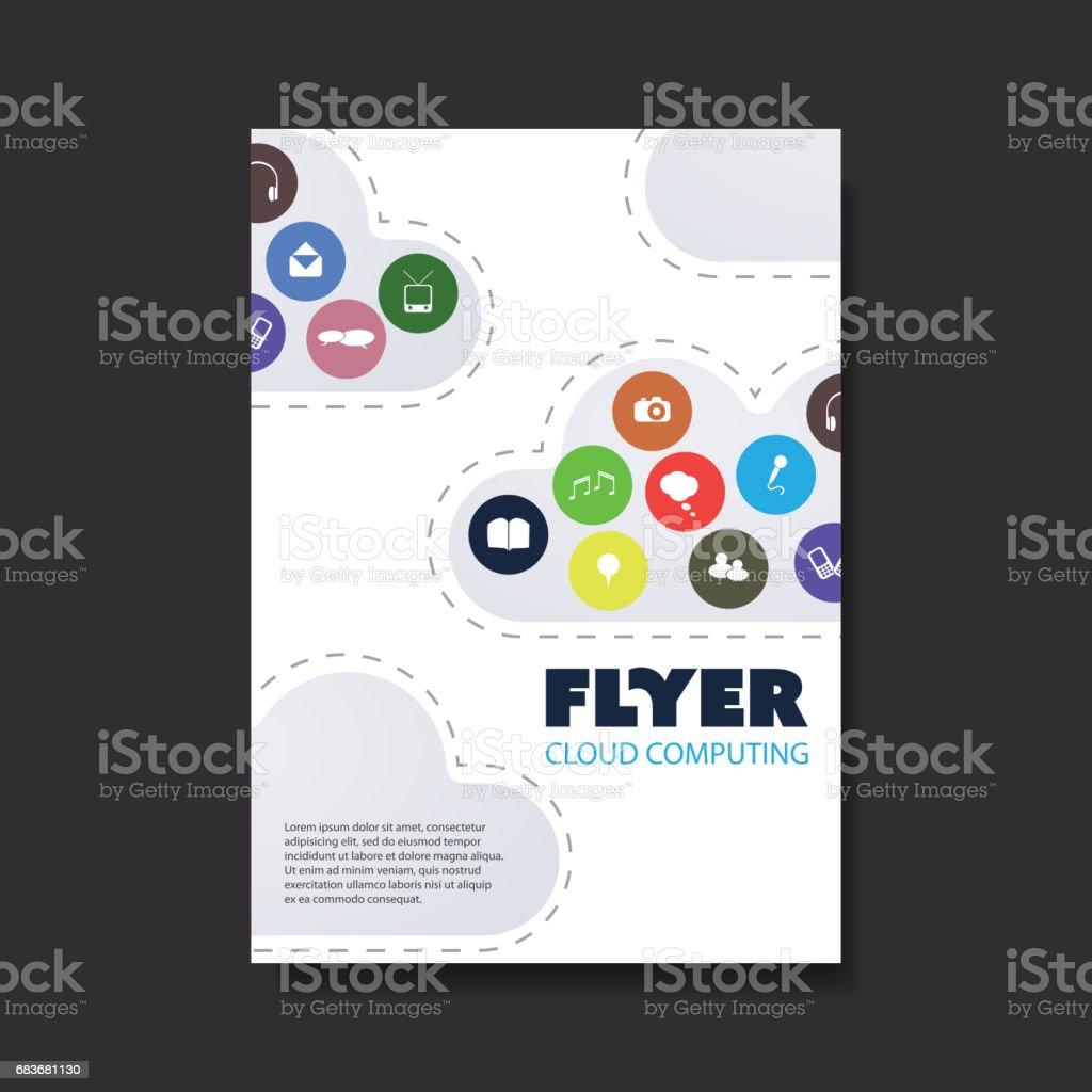 Cloudcomputing Netzwerke Digitale Medien Broschüre Vorlage Stock ...