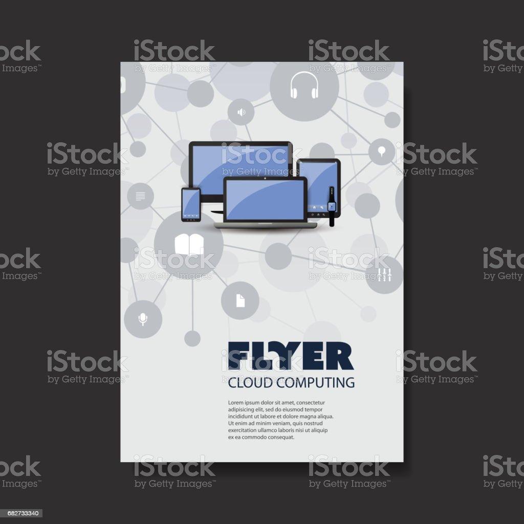 Cloudcomputing Netzwerke Mobilität Broschüre Vorlage Stock Vektor ...