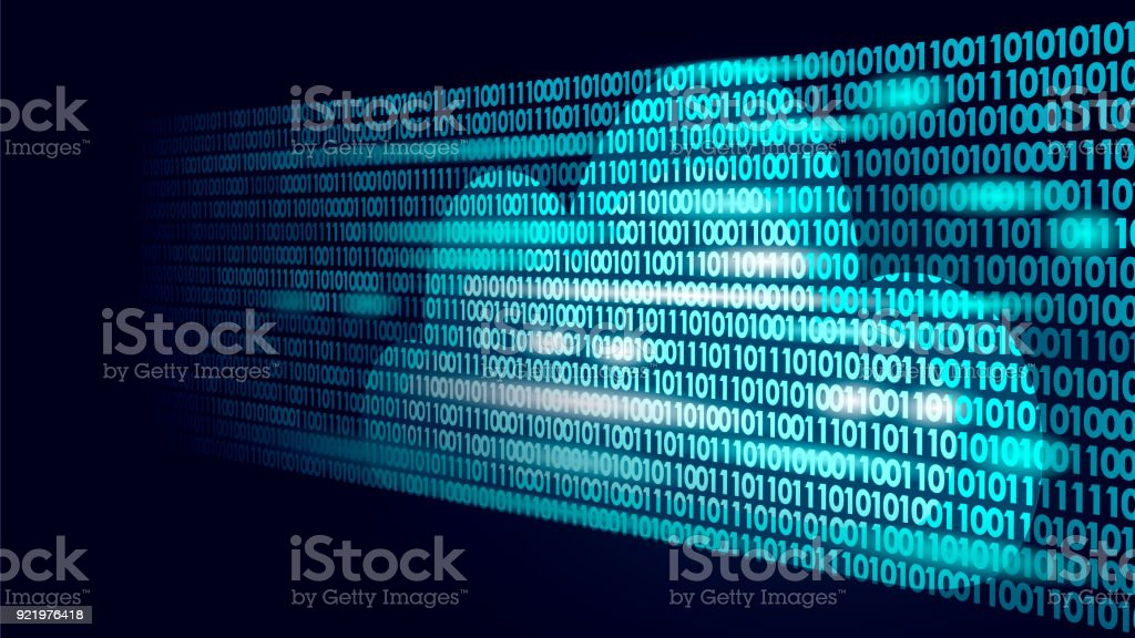 Cloud Computing Online Storage Binary Code Numbers Big Data