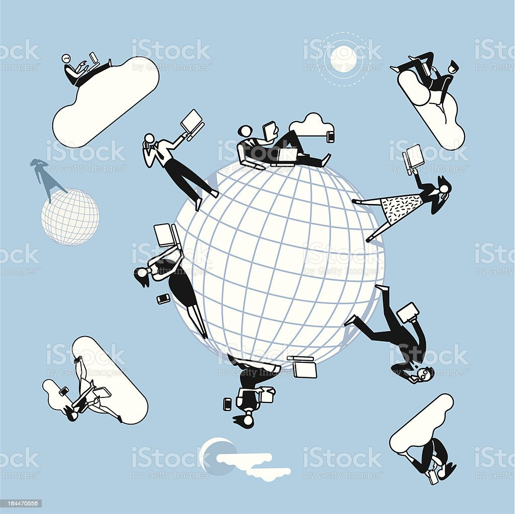 Cloud Computing  Planet royalty-free stock vector art