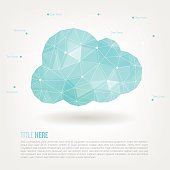 Cloud computing  Polygon with copy space