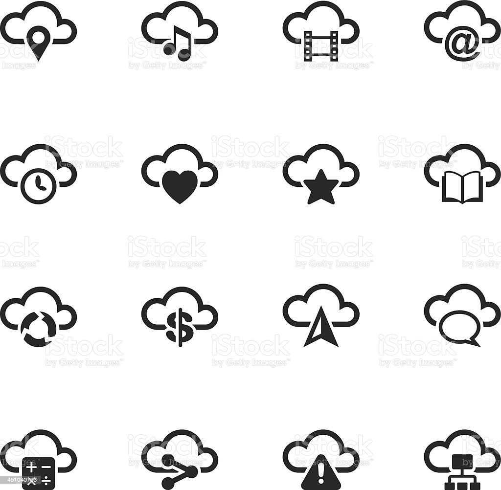 Cloud Computing Silhouette Icons | Set 2 royalty-free cloud computing silhouette icons set 2 stock vector art & more images of accessibility