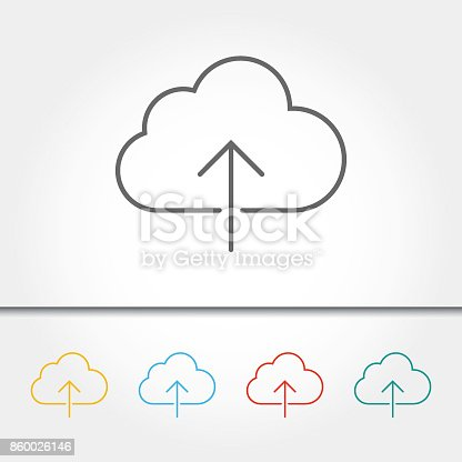 Downloading, Cloud Computing, Sign, Icon, Cloud - Sky