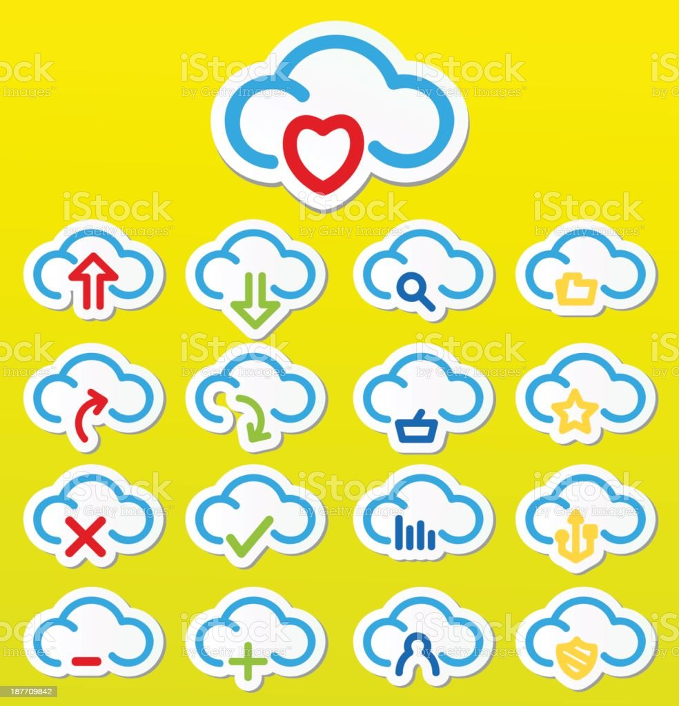 Cloud Computing Stickers royalty-free cloud computing stickers stock vector art & more images of cloudscape
