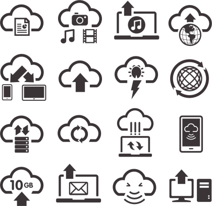 Cloud Computing & Storage Icons
