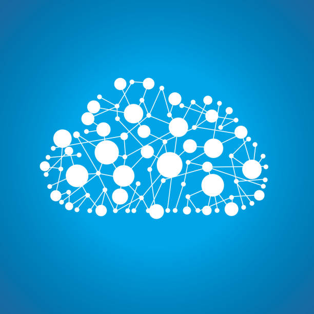 Cloud computing symbol vector art illustration