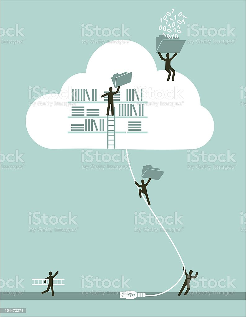 Cloud computing teamwork business success royalty-free cloud computing teamwork business success stock vector art & more images of activity