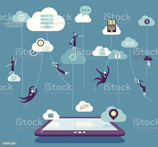 Vector illustration - Cloud computing