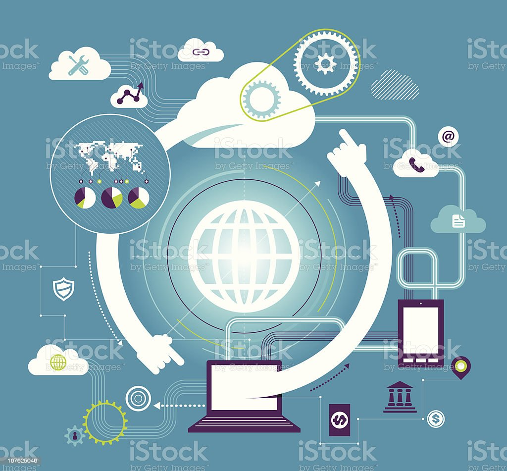 Cloud Computing royalty-free cloud computing stock vector art & more images of analyzing