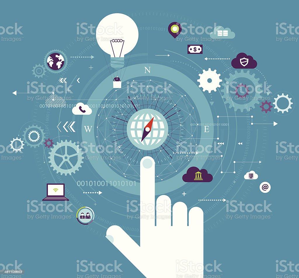 Cloud Computing vector art illustration
