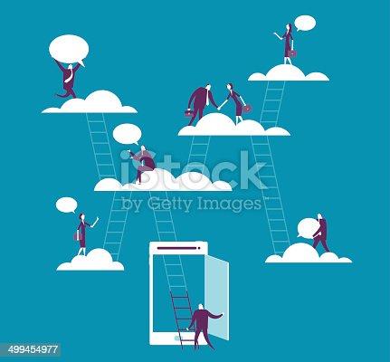Vector illustration - Cloud computing