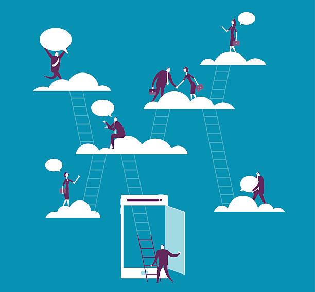 Computação em nuvem - ilustração de arte em vetor