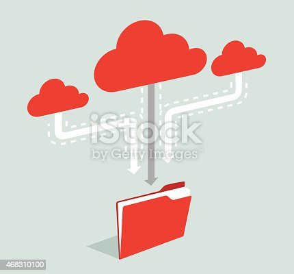 istock Cloud Computing-Illustration 468310100
