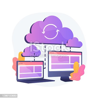 istock Cloud connection abstract concept vector illustration. 1286100683