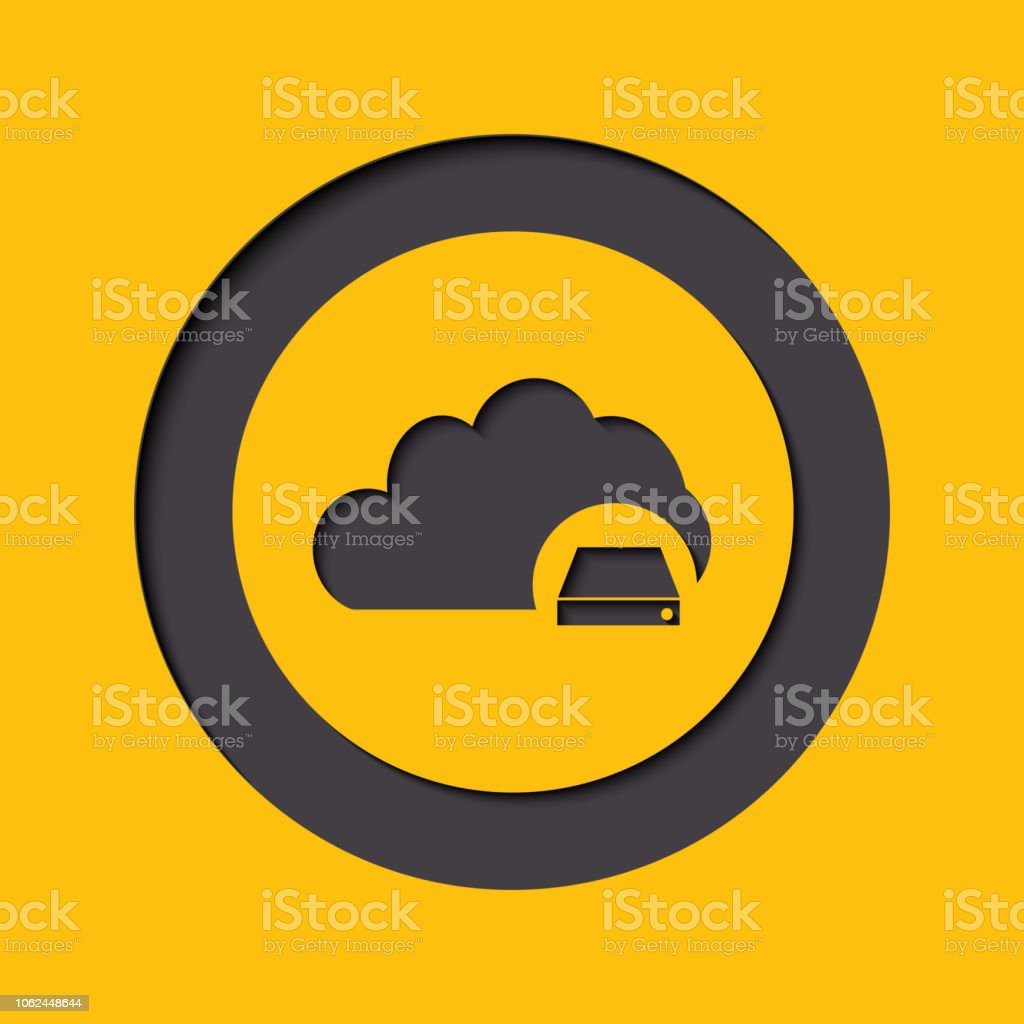 Cloud Database Icon Cloud Computing Concept In Flat Style Stock  Illustration - Download Image Now