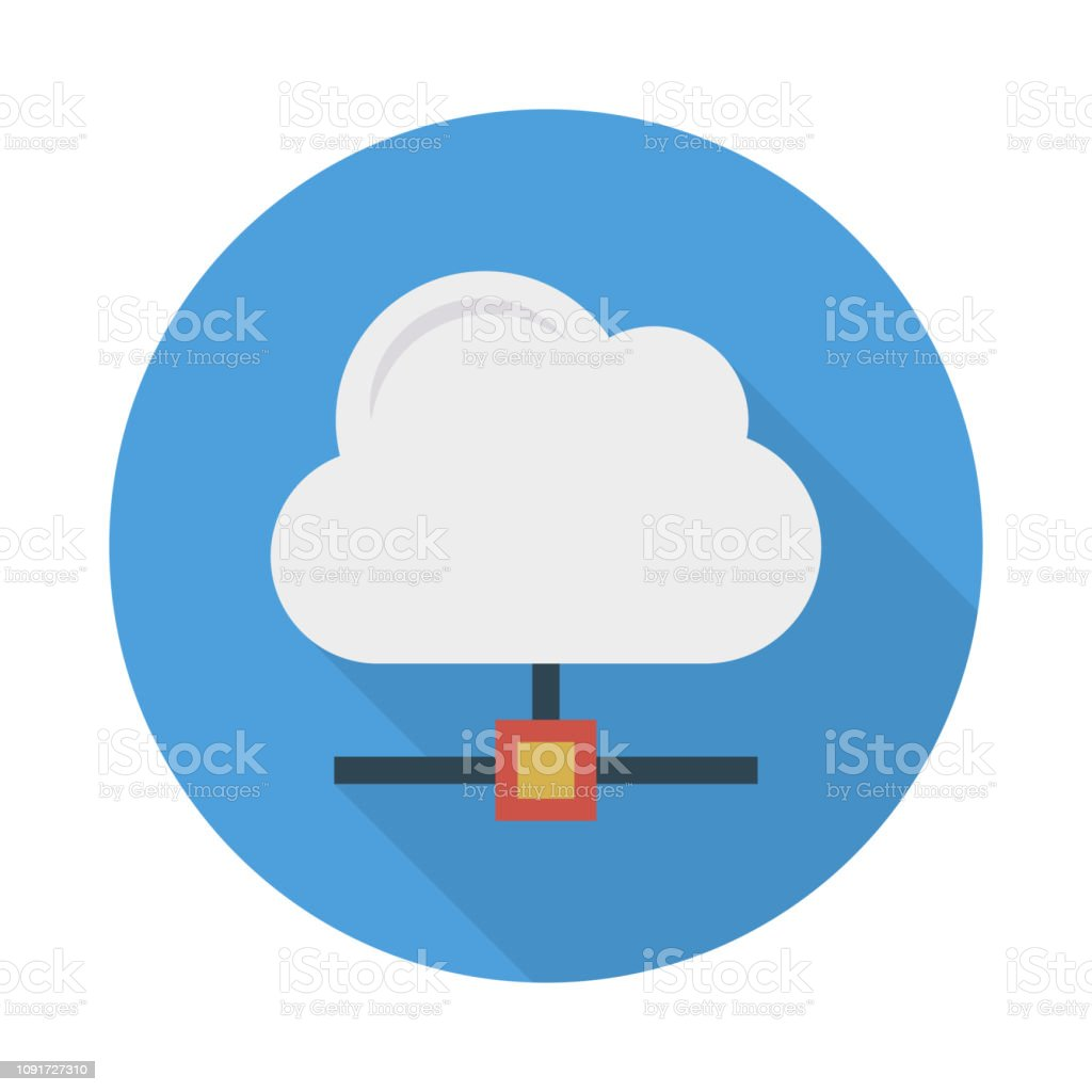 Cloud Database Sharing Stock Vector Art & More Images of