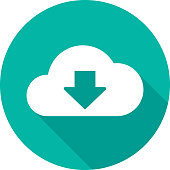 istock Cloud Download Icon Silhouette 2 951000828