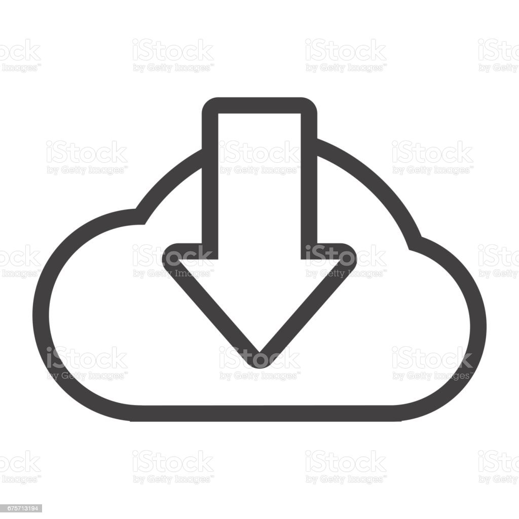 雲下載線圖示,搜尋引擎優化和網站按鈕,向量圖形,在白色的背景下,eps 10 的線性模式。 免版稅 雲下載線圖示搜尋引擎優化和網站按鈕向量圖形在白色的背景下eps 10 的線性模式 向量插圖及更多 下載 圖片