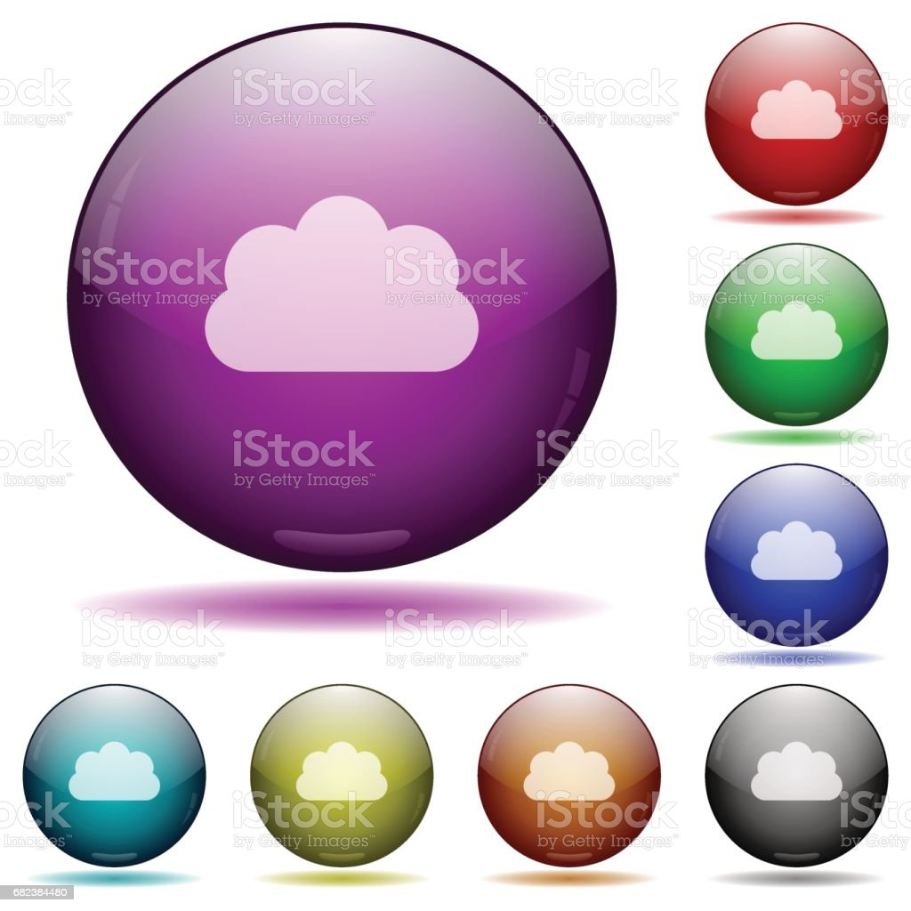 Cloud glass sphere buttons cloud glass sphere buttons - immagini vettoriali stock e altre immagini di affari royalty-free