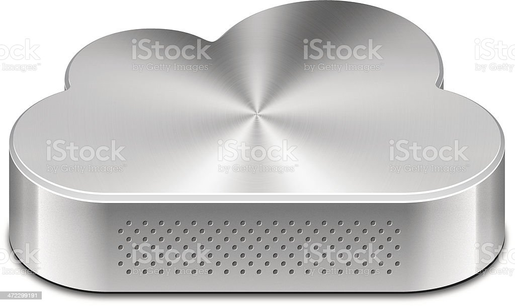 Cloud hard drive royalty-free stock vector art