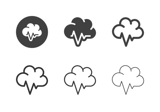 Cloud Healthcare Icons - Multi Series vector art illustration