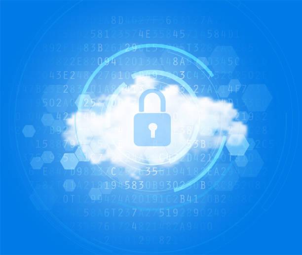stockillustraties, clipart, cartoons en iconen met cloud-hi-tech achtergrond - cloud computing