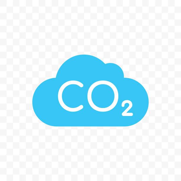 bildbanksillustrationer, clip art samt tecknat material och ikoner med co2 molnikonen för koldioxid utsläpp eller naturen föroreningar skydd koncept - co2