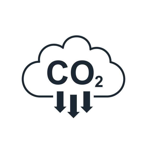 bildbanksillustrationer, clip art samt tecknat material och ikoner med co2 molnikon, rökföroreningsskador, smogföroreningskoncept, miljöföroreningar, utsläpp, koldioxidformelsymbol - för lager - co2