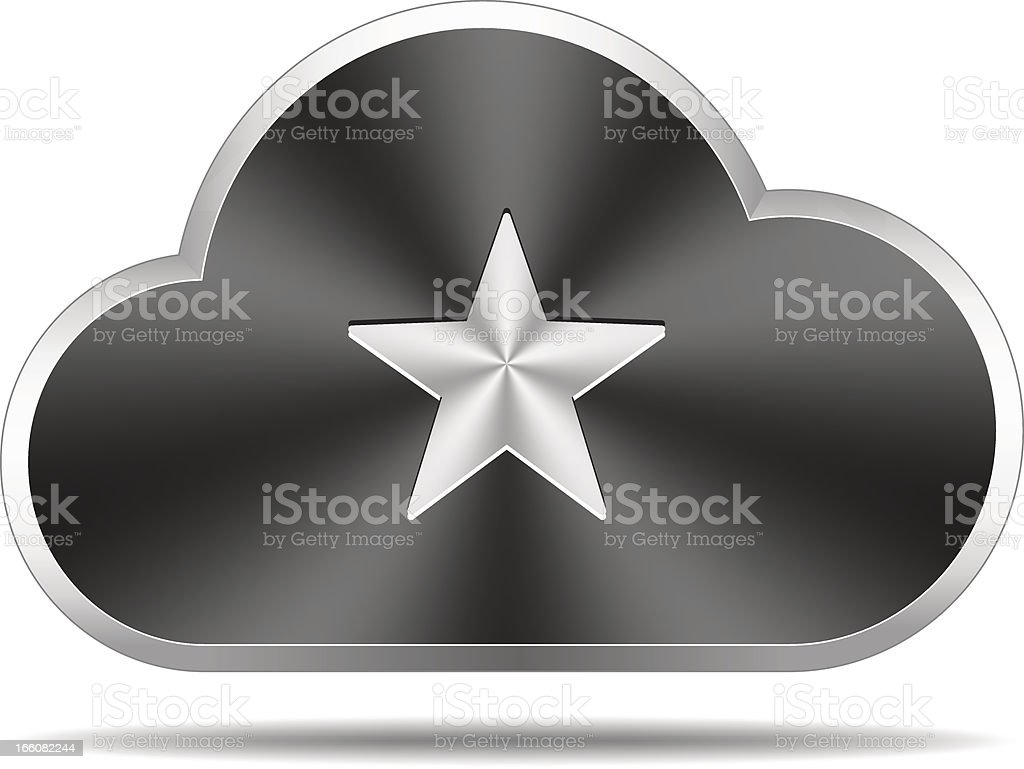 Cloud icon (star) royalty-free cloud icon stock vector art & more images of black color
