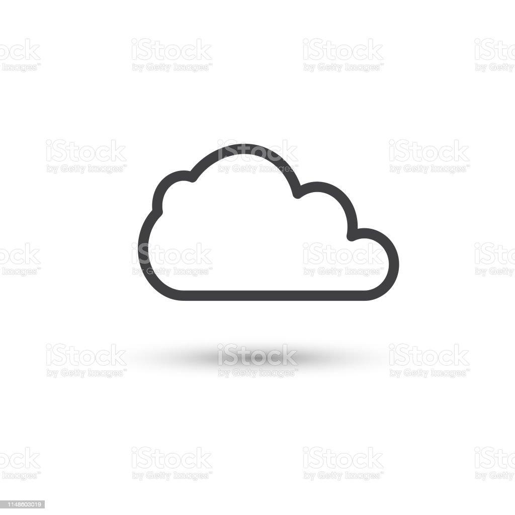 cloud icon vector einfaches flaches symbol stock vektor art und mehr bilder  von abstrakt - istock  istock