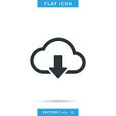 istock Cloud Icon Vector Stock Illustration Design Template. 1277409890