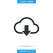 istock Cloud Icon Vector Stock Illustration Design Template. 1277409890