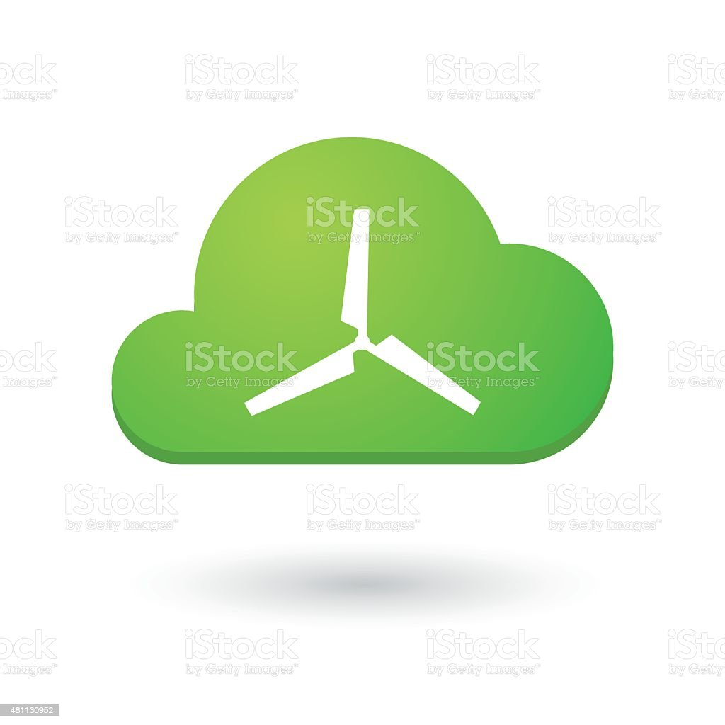 Cloud icon with a propeller vector art illustration