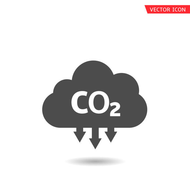 bildbanksillustrationer, clip art samt tecknat material och ikoner med co2-moln icon3 - co2