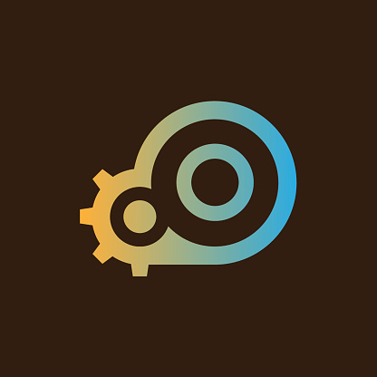 cloud initial Letter O icon design