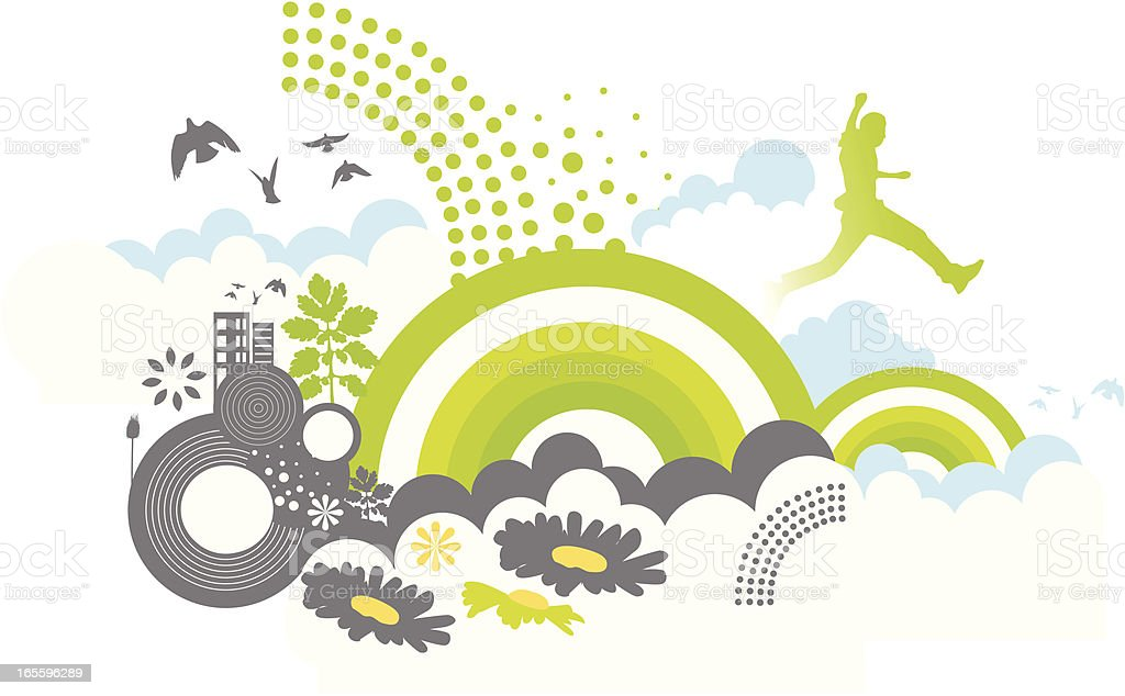 cloud jump! royalty-free cloud jump stock vector art & more images of cheerful