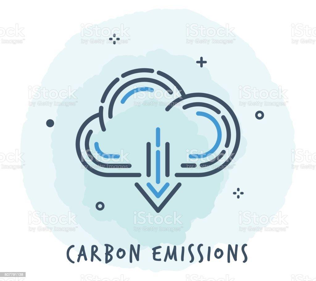 Cloud Line Icon vector art illustration