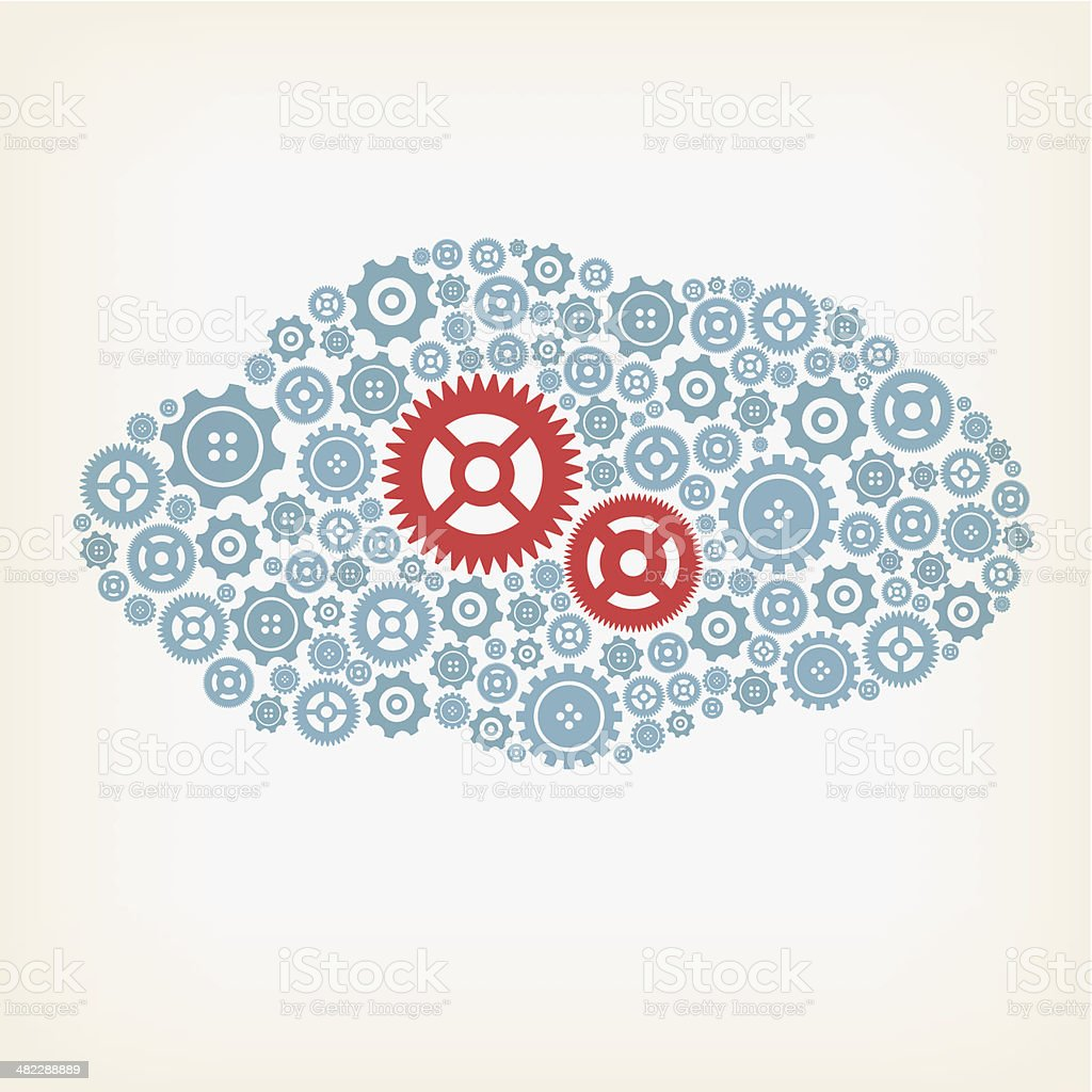 Cloud made of gears royalty-free cloud made of gears stock vector art & more images of big data