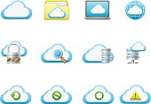 Cloud network icons