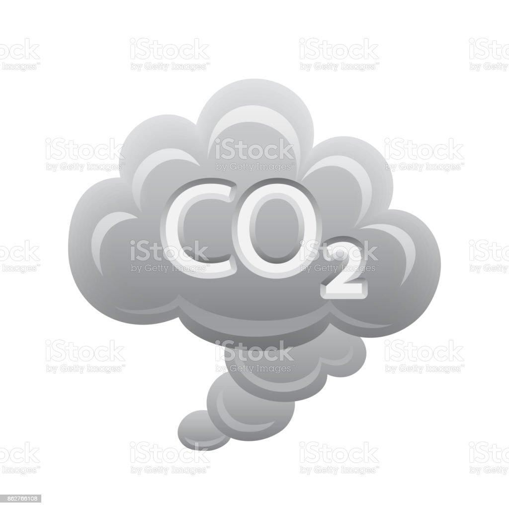 CO2 Cloud - Novo Icons vector art illustration