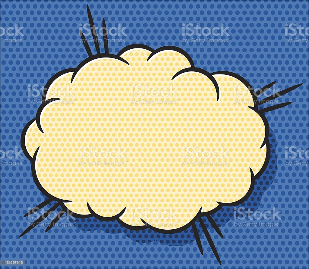 cloud of explosion royalty-free stock vector art
