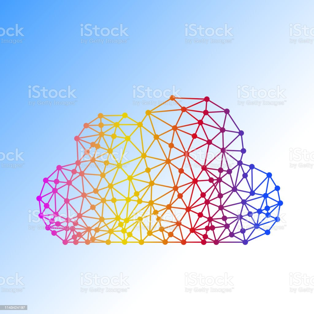 Abstract, line, Dot, Colorful, Cloud, Network