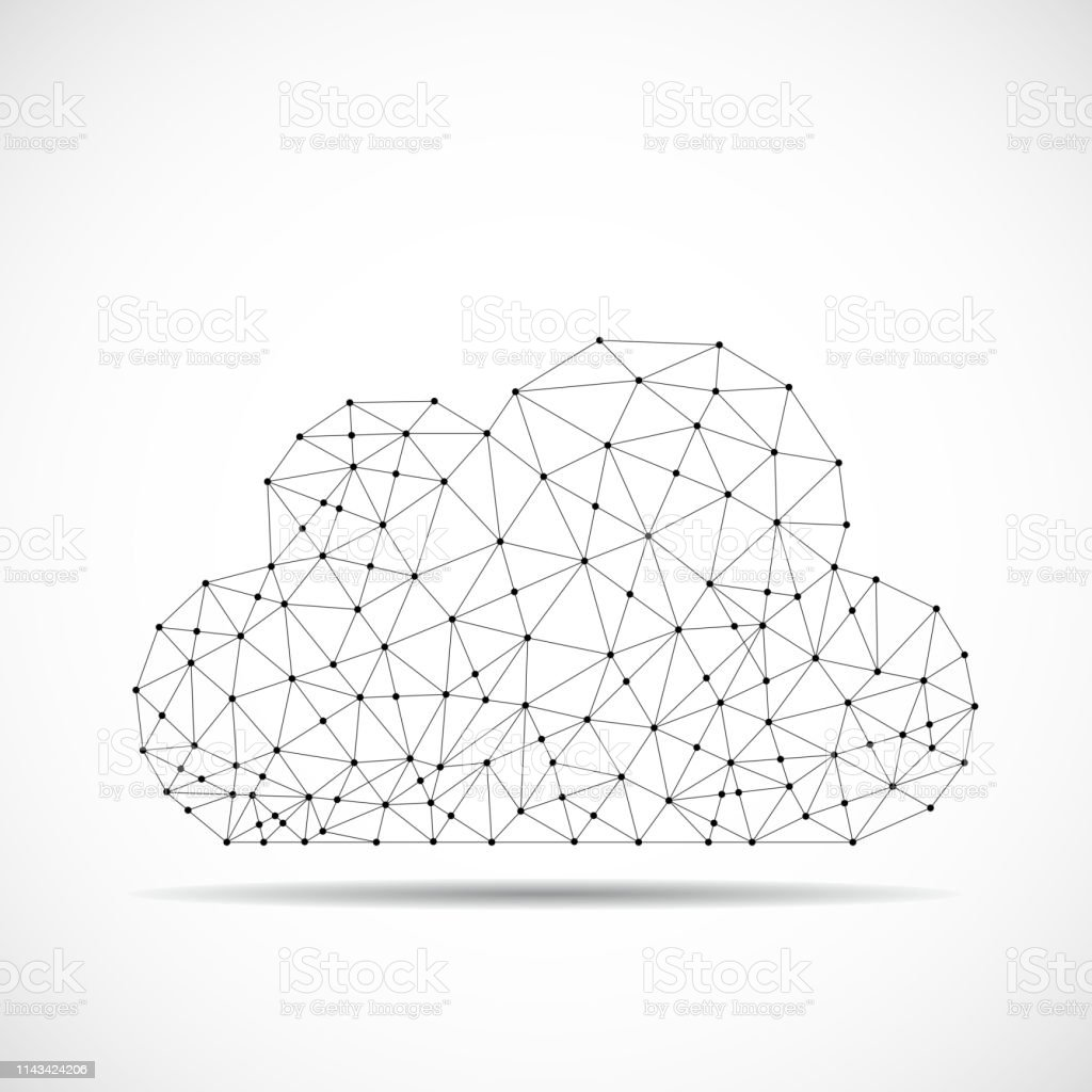Abstract, line, Dot, Black, Cloud, Network