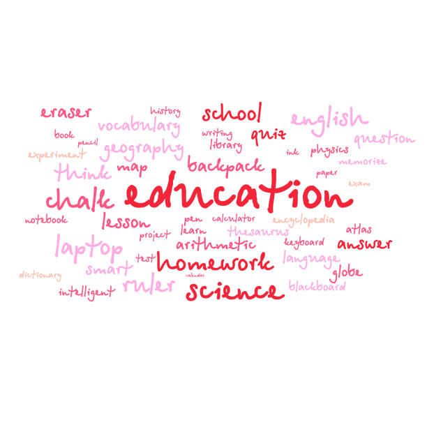 cloud of words list on the subject of school and education cloud of words list on the subject of school and education glossa stock illustrations