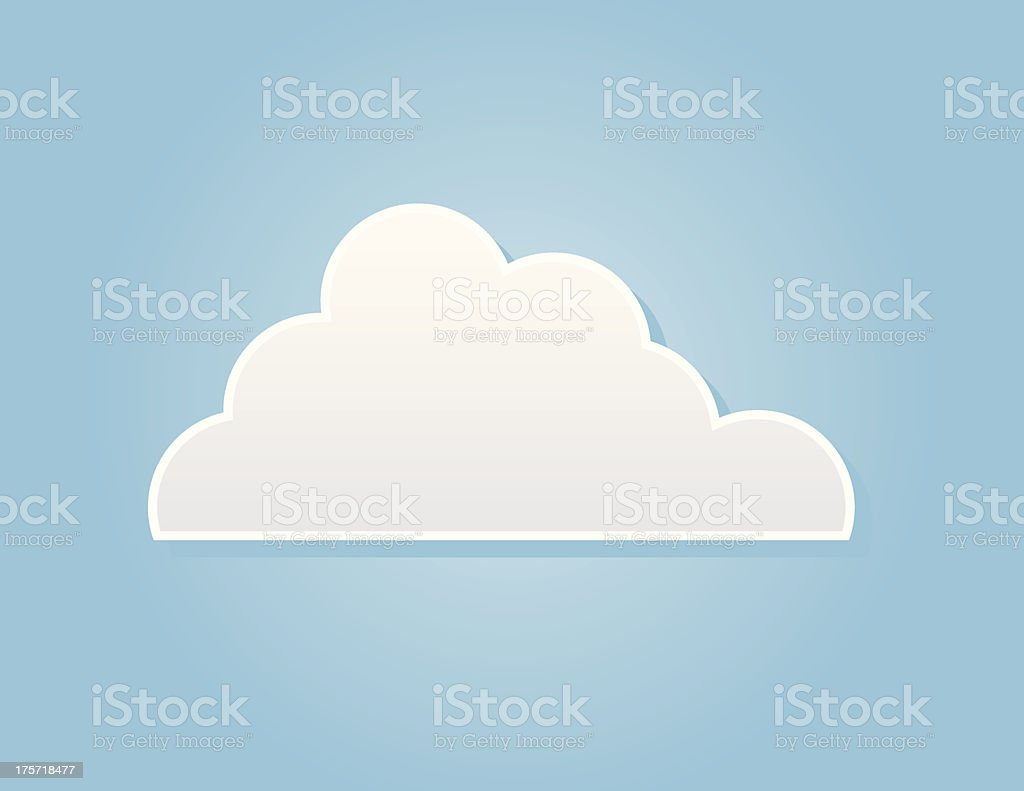Cloud One royalty-free stock vector art