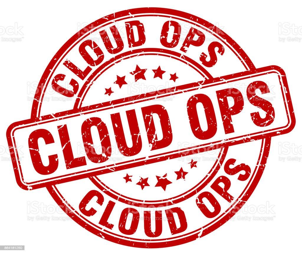 cloud ops red grunge stamp royalty-free cloud ops red grunge stamp stock vector art & more images of badge